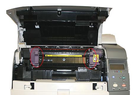 instrucciones cambio fusor hp 4700
