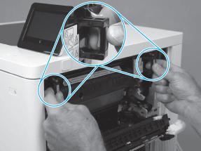 instrucciones cambio fusor hp m553